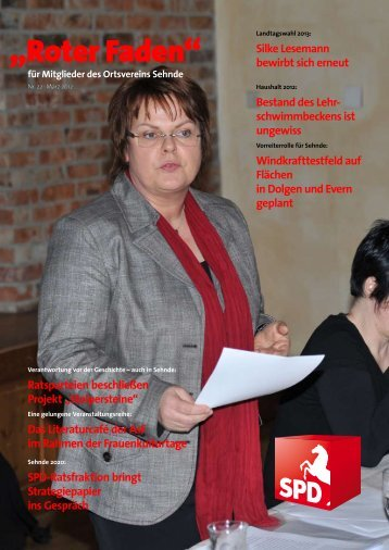 Roter Faden Ausgabe 03 2012 - SPD-Ortsverein Sehnde