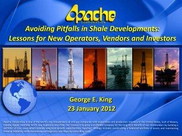 Avoiding Shale Investment Pitfalls - George E King Petroleum ...