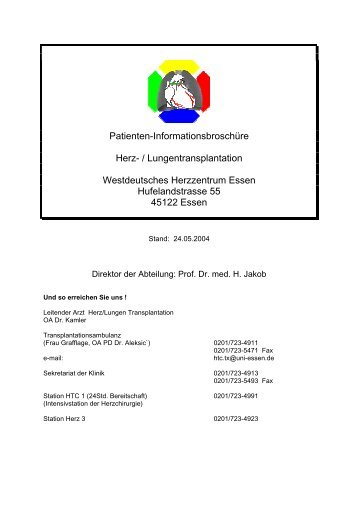 Patienten-Informationsbroschüre Herz- / Lungentransplantation ...