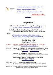 Programm der 27. Internationalen Ostbrandenburger ...
