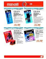 CD-P1 CD-P4 AVCK-1 CD-291 - Maxell Canada