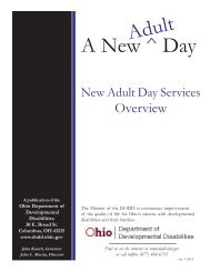 Adult Day Services Overview - DODD-Home - Ohio.gov