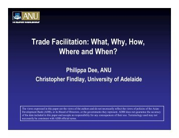 Trade Facilitation - Asian Development Bank Institute