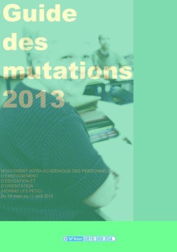 Guide des mutations 2013 - Siaes.com