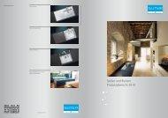 Spülen und Becken: Produktübersicht 2010 - Suter Inox AG