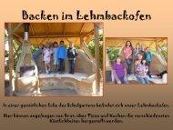 Backen im Lehmbackofen - Paula Fürst Schule