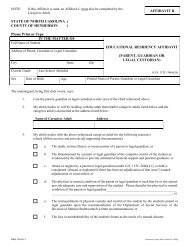 Form B – Educational Residency Affidavit by parent, Guardian or ...