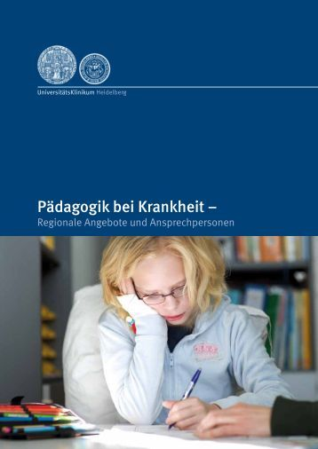 "Broschüre ""Pädagogik bei Krankheit"" - Stadt Heidelberg"