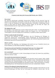 1 Chronisch nicht bakterielle Osteomyelitis/Osteitis (oder ... - PRINTO