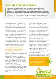 Climate change witness - James' story - Caritas Australia