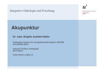 Akupunktur - Symposium Integrative Onkologie