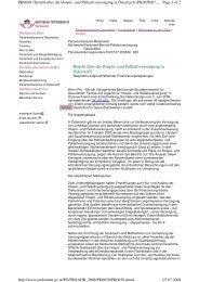 Bericht über die Hospiz - Koordination Palliativbetreuung Steiermark
