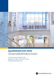 Qualitätsbericht 2010 Universitätsklinikum Essen