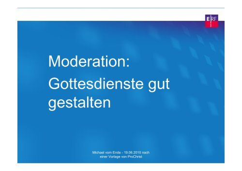 Workshop Moderation