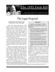 The Lugar Proposal - Agricultural Policy Analysis Center