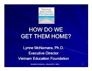 HOW DO WE DO WE HOW DO WE GET THEM HOME? - Vietnam ...