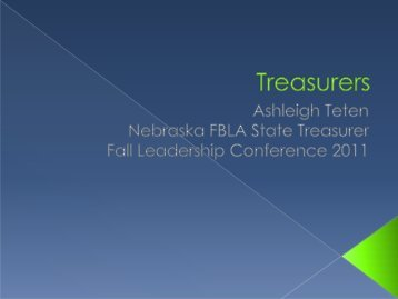 Treasurer - Nebraska FBLA