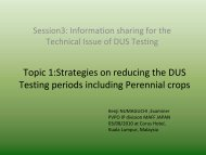 Strategies on reducing the DUS Testing Period including Perennial ...