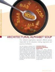 ARCHITECTURAL ALPHABET SOUP - NCARB