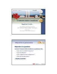 Profitabilité et compétition - Centre canadien d'information laitière