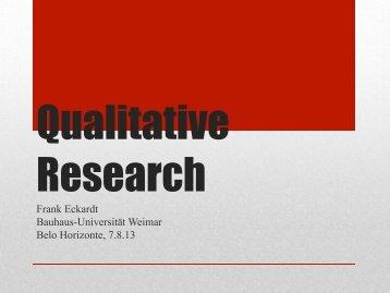 Process of qualitative research