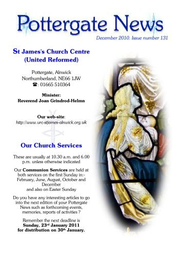 (United Reformed) Our Church Services - Alnwick, St James