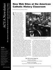 Winter 2010 - University Archives - The Catholic University of America