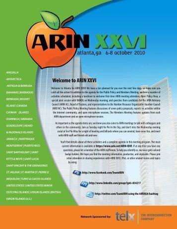 Meeting Program - ARIN