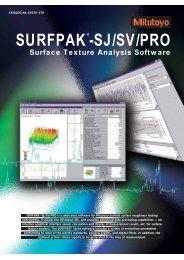 Surface Texture Analysis Software - Mitutoyo Scandinavia AB