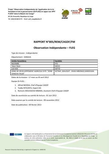 RAPPORT N°005/REM/CAGDF/FM Observation ... - Capacity4Dev