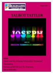 August newsletter - Beaumaris Theatre