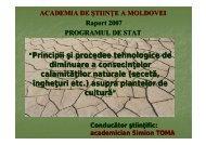 (seceta, ingheturi, etc.) asupra plantelor de - Academia de Ştiinţe a ...