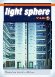 Information for our partners in the lighting industry - Osram