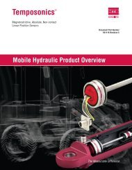 551115C Mobile Hydraulic Product Overview - MTS Sensors