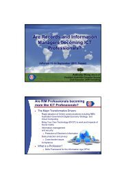 Professionalism - Records and Information Management Professionals ...