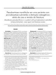 Pseudoartrose mandibular em uma paciente com ... - ABCCMF