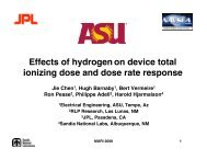 Effects of hydrogenon device total ionizing dose and dose rate ...
