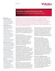 McAfee Content Security Suite