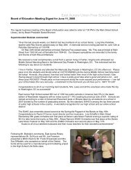 Board of Education Meeting Digest for June 11, 2008 - East Aurora ...