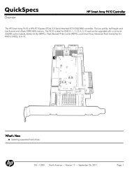 HP Smart Array P410 Controller