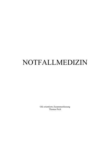 NOTFALLMEDIZIN - Doccheck Campus
