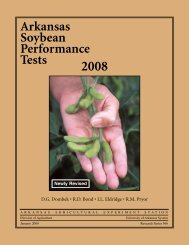 Arkansas Soybean Performance Tests 2008. Research Series 566