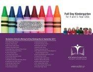 Full Day Kindergarten - Ottawa-Carleton District School Board