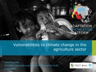 Vulnerabilities to climate change in the agriculture sector - Regional ...