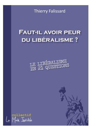 Faut-il avoir peur du libéralisme - Institut Coppet