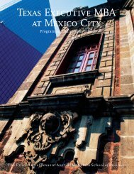 Texas Executive MBA at Mexico City - Santa Fe - Tecnológico de ...
