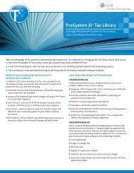 ProSystem fx® Tax Library - CCH