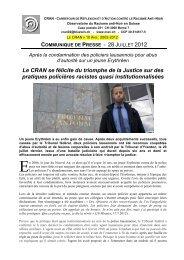 Le CRAN se félicite du triomphe de la Justice sur des pratiques ...