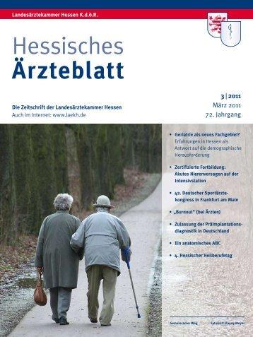 Hessisches Ärzteblatt - Landesärztekammer Hessen