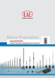 Inductive and LVDT sensors for displacement, distance and position